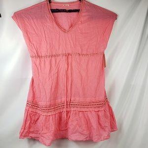 Shoshanna  Cotton V-neck Sleeveless Lace Dress